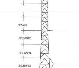 200' ROHN SSMW Tower