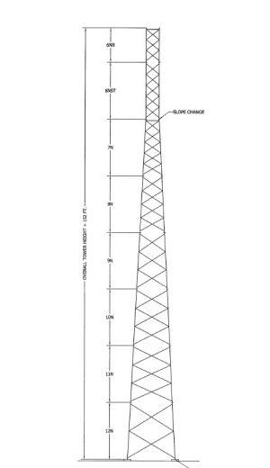 NEW 150' ROHN SSV Tower